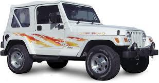 jeep wrangler graphics shredder vinyl graphics decals stripes kit universal fit shown