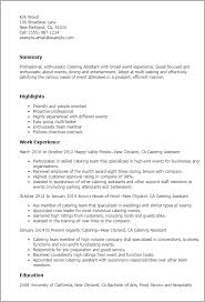 Unit Secretary Resume Professional Catering Assistant Templates To Showcase Your Talent