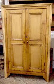 rustic antique old pine kitchen larder pantry cupboard english