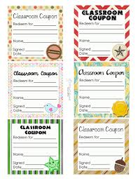 Printable Halloween Candy Coupons by Classroom Coupons Updated Squarehead Teachers