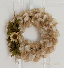 ribbon wreath fall mesh ribbon wreath hometalk