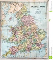 Map Of Wales England by Antique Map Of England And Wales Royalty Free Stock Images Image