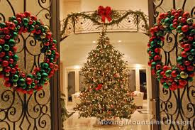 Beautiful Decorated Christmas Wreaths by Holiday Home Staging And Decorating In Los Angeles