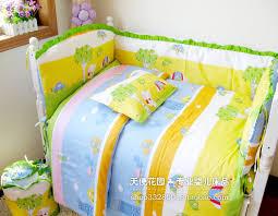 Toddler Bedding For Crib Mattress 6 Pcs Baby Bedding Set Crib Kit 100 Cotton Bumper Suit Winter