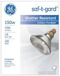 Exterior Led Flood Light Bulbs by 6 Pack Ge Lighting 26370 150 Watt Saf T Gard Outdoor Floodlight