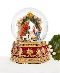 nativity musical snow globe created for macy s