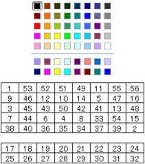 excel vbaのcolorindexコードと色との関係を調べた まりふのひと