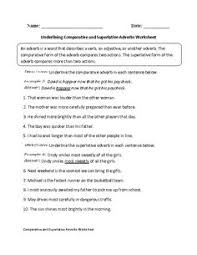 choosing comparative and superlative adjectives worksheet great