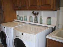 Countertop Clothes Dryer Laundry Room Shelf Behind Washer And Dryer Laundry Room Shelves
