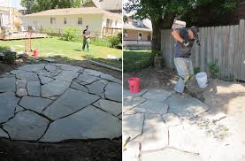 Rock Patio Design To Set Up A Flagstone Patio Design