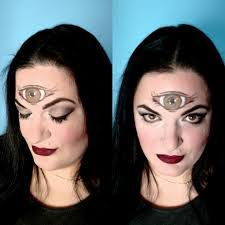 easy high priestess third eye halloween makeup primp powder