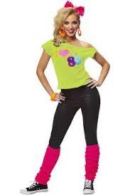 80 Halloween Costume Ideas Nostalgia Neon Bright U002780s Workout Costume Inspiration 80s