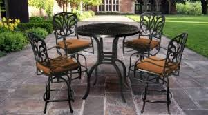 Bar Height Patio Table And Chairs Enchanting Bar Height Patio Ideas Height Outdoor Table In Bar