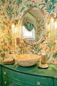 Powder Room Furniture Vanity Summer Trend 25 Dashing Powder Rooms With Tropical Flair