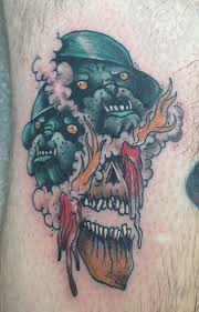 scary tattoo design by myles karr design of tattoosdesign of tattoos