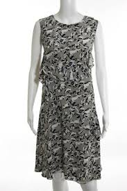 abstract pattern sleeveless dress oscar de la renta multicolored abstract sleeveless dress size 8