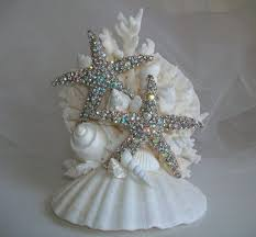 wedding cake topper starfish beach wedding cake topper with
