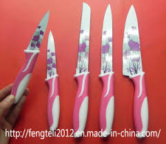 chinese kitchen knife stainless saw family set ceramic fruit knife