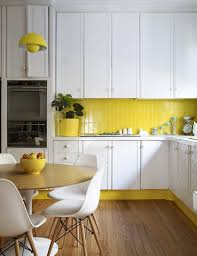 Yellow Kitchens With White Cabinets - 15 bright yellow kitchens that will make you smile brit co