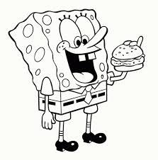 spongebob coloring page lezardufeu com