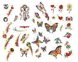 butterfly flower designs tattooshunt com