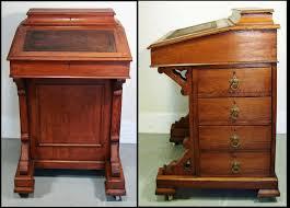 antique drop front secretary desk with bookcase delightful
