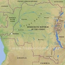 Republic Of Congo Map Congo Democratic Republic Physical Map