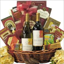 wine gift basket mondavi selection classic series duet corporate wine gift