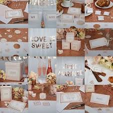 wedding party supplies geo blush gold wedding party supplies favours decorations