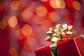new year box holidays box gift bow gold present bokeh winter christmas new