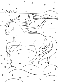 winter horse coloring free printable coloring pages