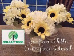 sunflower centerpieces dollar tree diy sunflower table centerpiece