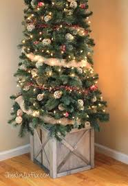 where can i find a brown christmas tree diy scrap wood crate christmas tree stand the six fix