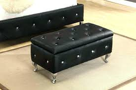 Square Leather Ottoman With Storage Square Black Leather Ottoman Black Square Leather Ottoman Square