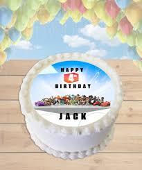 infinity cake topper minecraft steve edible image cake topper
