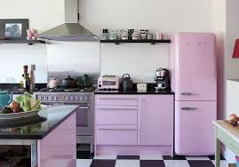 Shabby Chic Kitchen Furniture Shabby Chic Kitchen With Light Violet Glint And Black And White