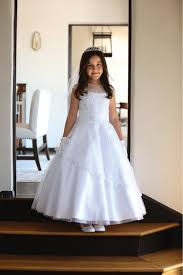 dress for communion detailed mesh fabric with cap sleeves communion dress