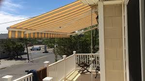 Outdoor Retractable Awnings Motorized Retractable Awning Installation In Brick Nj