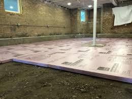 Basement Floor Insulation Basement Floor Prep And Insulation Two Flat Remade