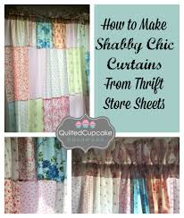 How To Make Basic Curtains How To Make Shabby Chic Curtains Easy Diy Tutorial