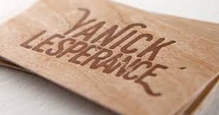 real wood wood business cards 40pt