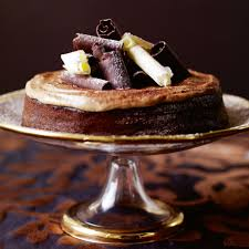sticky mocha cake with chestnut cream woman and home