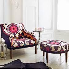 Patterned Armchair Suzani Print Bath Button Back Armchair Sofas U0026 Armchairs