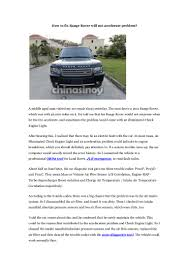 range rover engine turbo how to fix range rover will not accelerate problem