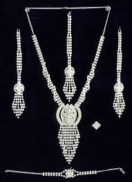 white crystal necklace images White crystal necklace set jpg