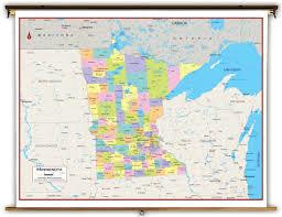 Minnesota Map Minnesota State Political Classroom Map From Academia Maps