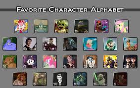 Alphabet Meme - favorite character alphabet meme by jocy chick on deviantart