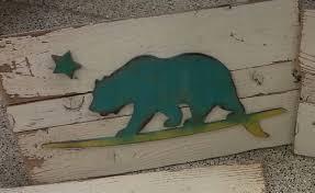 california surfing wood plank sign decor