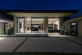 awesome black glass wood simple design modern exterior house brown