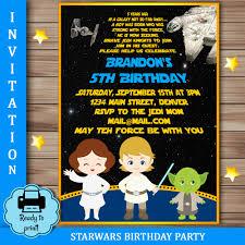 5th birthday party invitation star wars boy birthday party invitation star wars boys party
